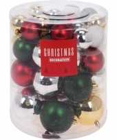 44x klassieke kerst kerstballen 5 6 7 8 cm kunststof trend