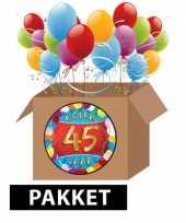 45 jarige feestversiering pakket trend
