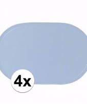 4x babyshower jongen lichtblauwe placemats trend