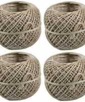 4x bindtouw bolletjes van 50 meter trend