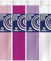 4x crepe papier basis pakket meisjes 250 x50cm knutsel materiaal trend