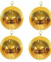 4x disco spiegel ballen goud 30 cm trend