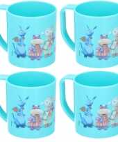 4x doc mc stuffins disney mokken onbreekbare drinkbekers blauw trend