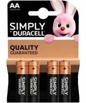 4x duracell aa simply batterijen alkaline lr6 mn1500 1 5 v trend