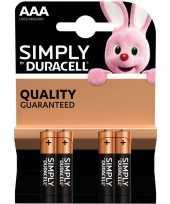 4x duracell aaa simply batterijen alkaline lr03 mn2400 1 5 v trend
