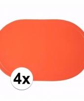 4x ek decoratie oranje placemats trend