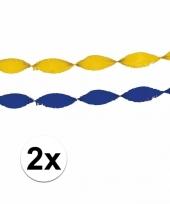 4x feest slingers blauw geel trend