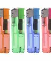 4x gekleurde aanstekers 9 cm trend