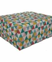 4x inpakpapier driehoek motief 200 x 70 cm op rol type 6 trend