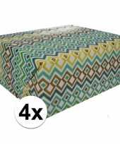 4x inpakpapier met gekleurd motief 200 x 70 cm op rol type 3 trend