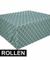 4x inpakpapier met groen design 200 x 70 cm op rol type 2 trend
