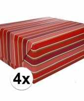 4x inpakpapier met strepen 200 x 70 cm op rol type 7 trend