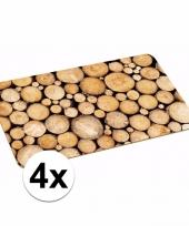 4x knutsels placemats van bomen trend