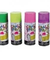 4x krijtspray groen fluorgeel roze paars 100 ml trend