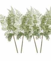 4x kunstplanten bosvaren takken 58 cm groen trend