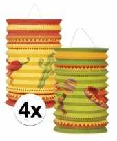 4x mexico thema lampion setje fiesta trend