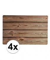 4x placemats houten planken design trend