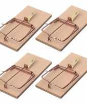 4x rattenvallen rattenklemmen 17 cm ongediertebestrijding trend