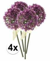4x roze paarse sierui kunstbloemen 70 cm trend