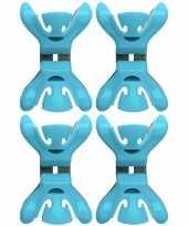 4x slingers decoratie ophangen slingerklemmen blauw trend