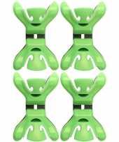 4x slingers decoratie ophangen slingerklemmen groen trend