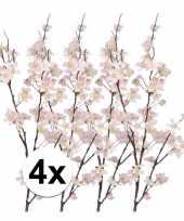4x tak met roze appelbloesems 84 cm trend