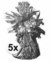 5 ballongewichten zilver 170 gr trend