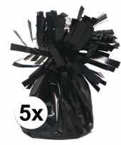 5 ballongewichten zwart 170 gr trend
