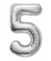 5 jaar helium ballon zilver trend