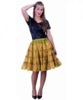 5 laagse gouden petticoat voor dames trend