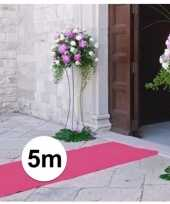 5 meter lichtroze decoratie loper 1 meter breed trend