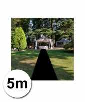 5 meter zwarte loper 1 meter breed trend