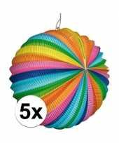 5 stuks fel gekleurde lantaarns rond trend