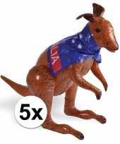5 stuks opblaasbare australia kangoeroes trend