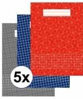 5 stuks school schriften a4 met ruitjes 10 mm trend