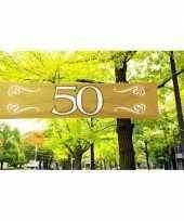 50 jaar decoratie banner 180 x 40 cm trend
