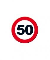 50 jaar decoratie wandposter rond trend