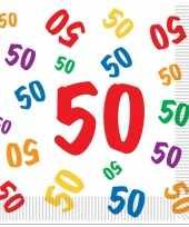 50 jaar servetten 16 stuks trend