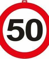 50 jaar verkeersbord deurbord 47 cm leeftijd versiering trend