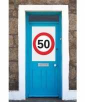 50 jaar verkeersbord deurposter a1 trend