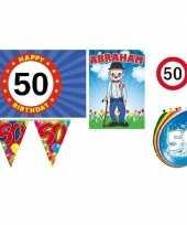 50 jaar versiering feestpakket abraham trend