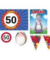 50 jaar versiering feestpakket sarah trend