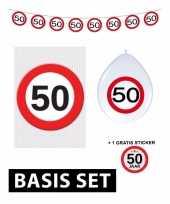 50 jaar versiering pakket verkeersbord basic trend