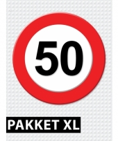 50 jarige verkeerbord decoratie pakket xl trend