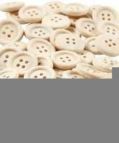50 stuks houten knopen 15 mm trend
