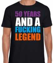 50 year legend 50 jaar legende cadeau t-shirt zwart heren trend