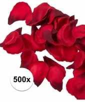 500x rode strooi rozenblaadjes 3 cm trend