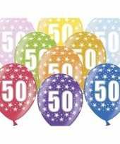 50e verjaardag ballonnen met sterretjes trend