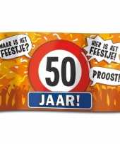 50e verjaardag straatvlag 100x150 cm trend 10112185