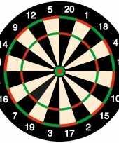 50x bierviltjes onderzetters dartbord darten feest thema trend
